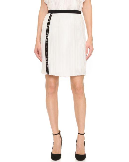 j mendel micro pleated skirt in white ivoire lyst
