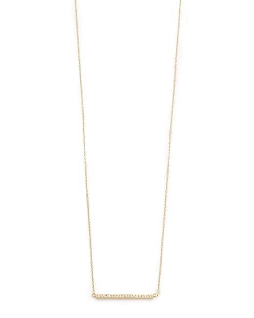 Jennifer Meyer | Yellow 18k Gold Diamond Stick Necklace | Lyst