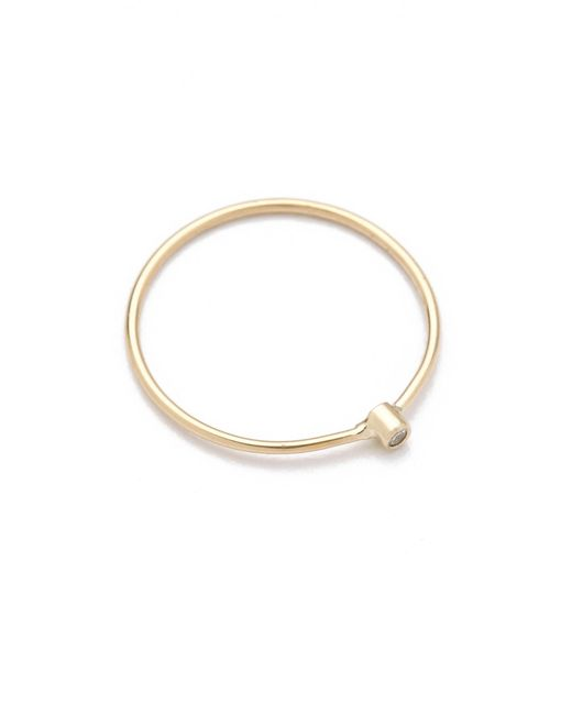 Jennifer Meyer | Metallic 18k Gold Thin Diamond Ring | Lyst