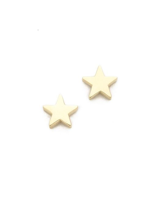 Jennifer Meyer | Metallic Mini Star Stud Earrings | Lyst