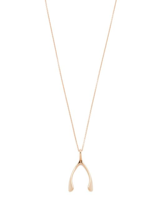 Jennifer Meyer | Metallic Wishbone Necklace | Lyst