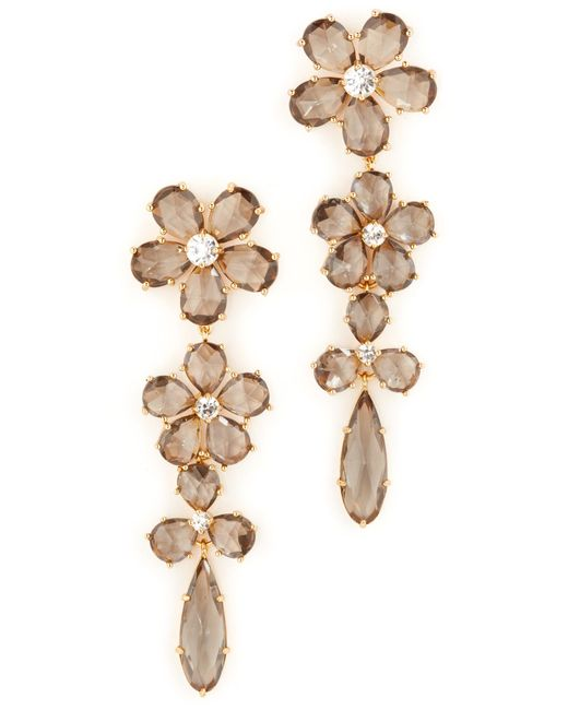 Kate Spade | Multicolor In Full Bloom Linear Earrings | Lyst