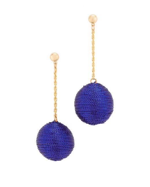 Kenneth Jay Lane | Blue Ball Drop Earrings | Lyst