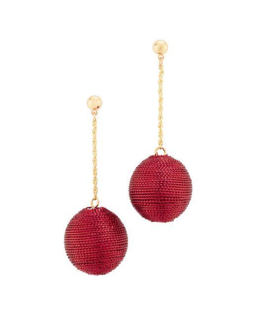 Kenneth Jay Lane | Red Ball Drop Earrings | Lyst