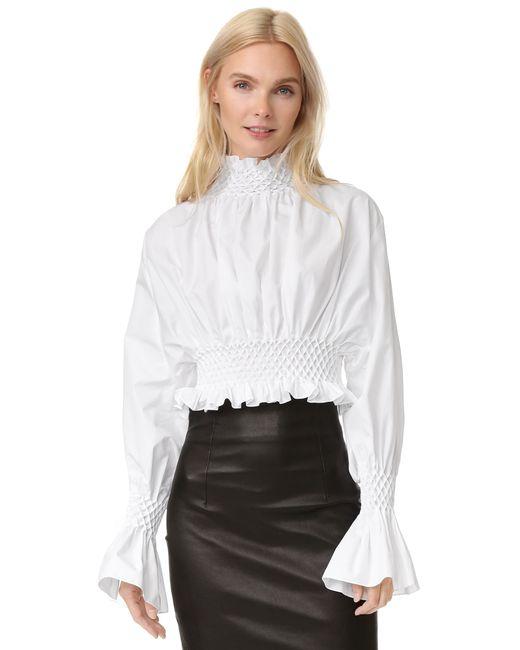 Creative White Ruffle Shirt Womens - South Park T Shirts