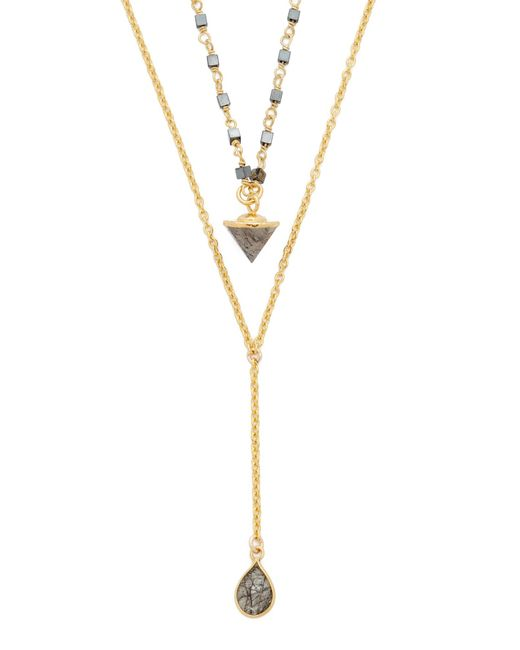 Lacey Ryan | Metallic Dainty Layer Lariat Necklace | Lyst