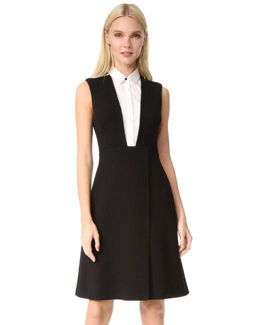 Lela rose Sleeveless Shirt Dress in Black | Lyst