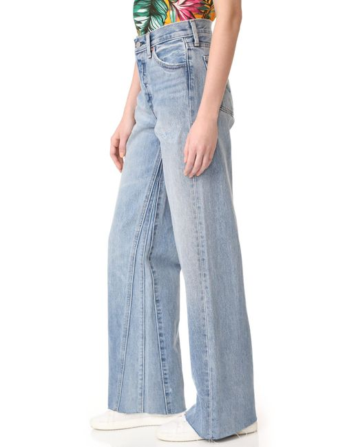 Levi's Altered Wide Leg Jeans in Blue | Lyst