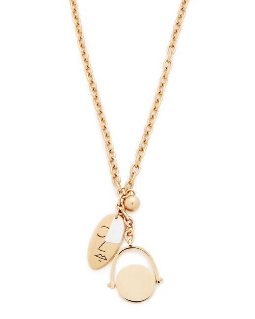 Madewell | Metallic Oversized Charm Lariat Necklace | Lyst