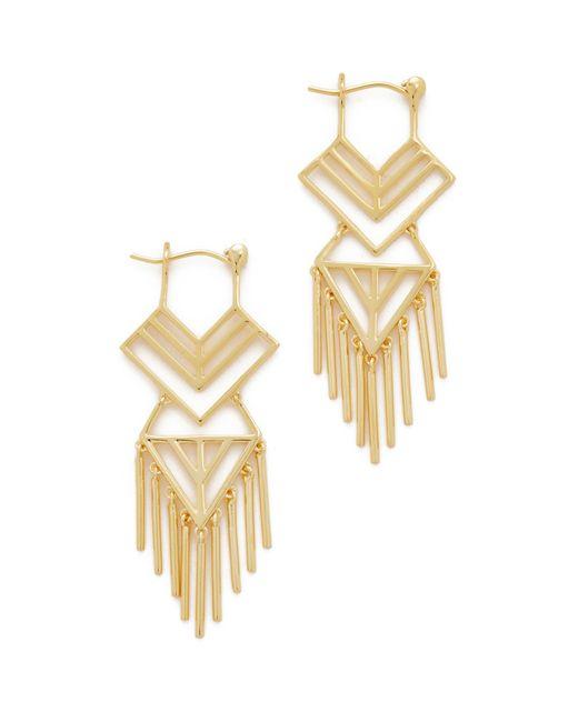 Noir Jewelry | Metallic Aztec Earrings | Lyst