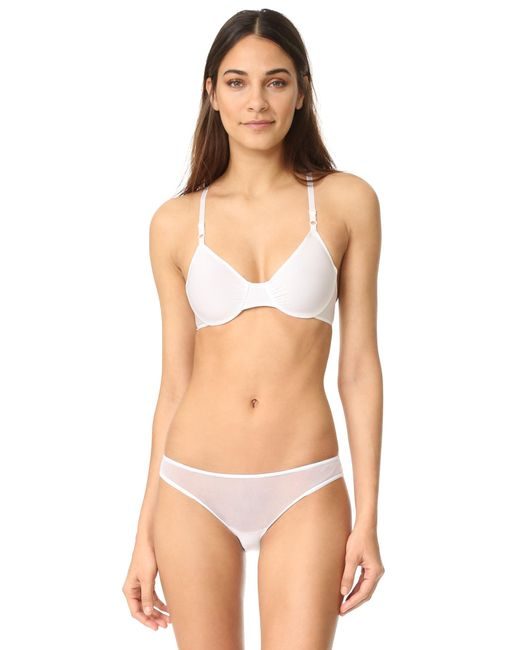 Only Hearts | White Second Skins Racer Back Bra | Lyst