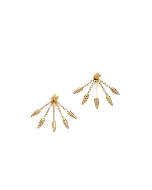 Pamela Love | Metallic Five Spike Stud Earrings | Lyst