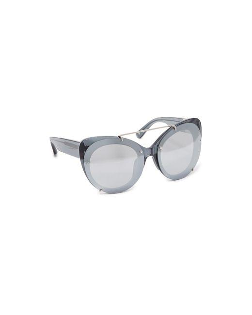 3.1 Phillip Lim | Metallic Cat Aviator Mirrored Sunglasses | Lyst