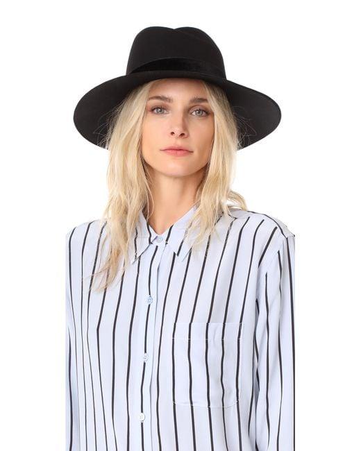 Rag & Bone   Black Zoe Fedora Hat   Lyst