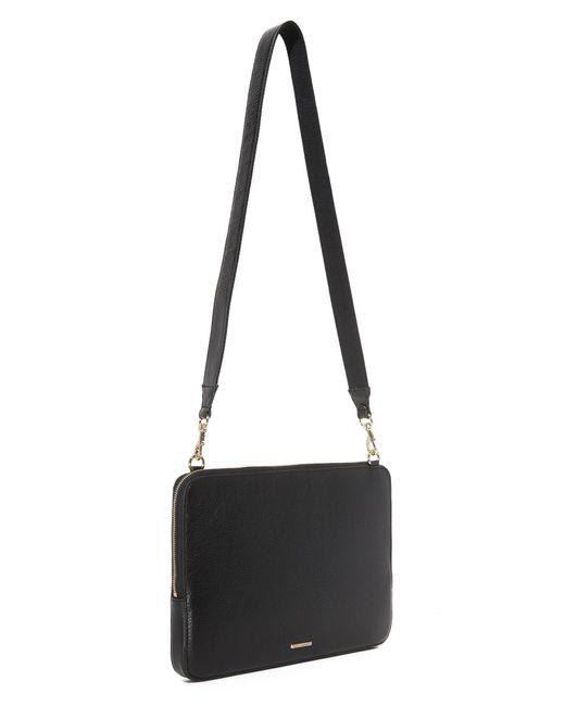 rebecca minkoff regan laptop sleeve with strap in black lyst. Black Bedroom Furniture Sets. Home Design Ideas