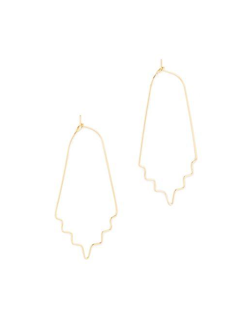 Rebecca Minkoff | Metallic Sculpture Metal Hoop Earrings | Lyst