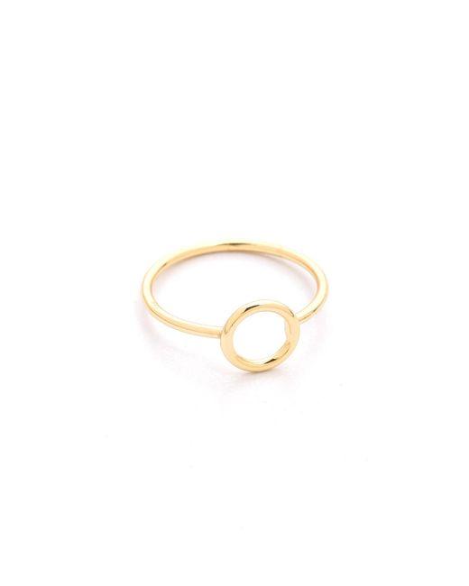 Shashi | Metallic Circle Ring | Lyst