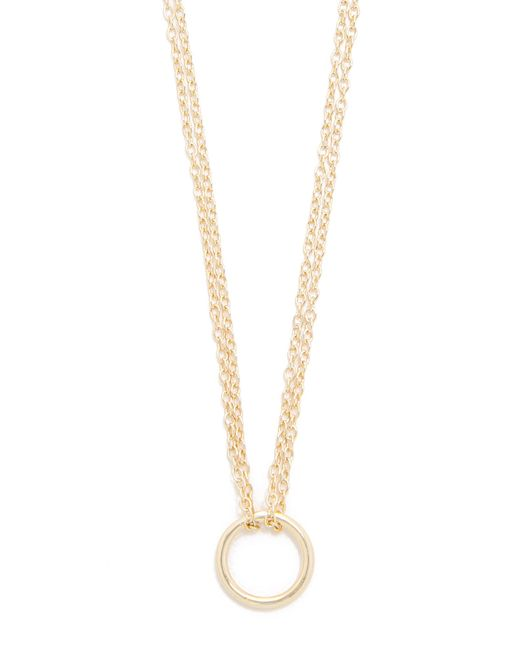 Shashi | Metallic Circle Necklace | Lyst