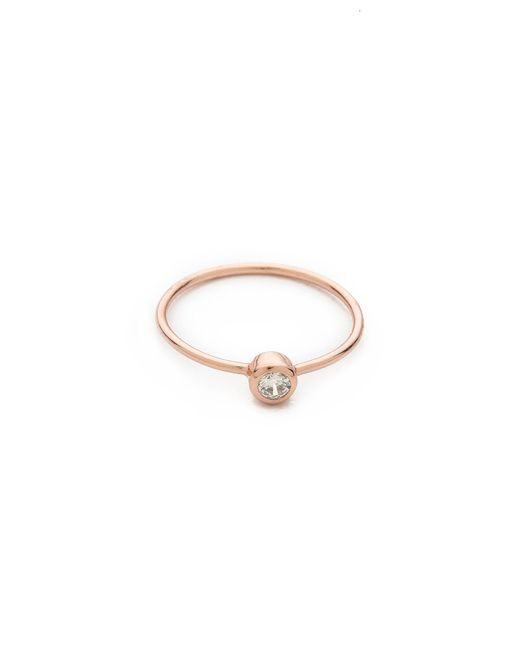 Shashi | Pink Solitaire Ring | Lyst