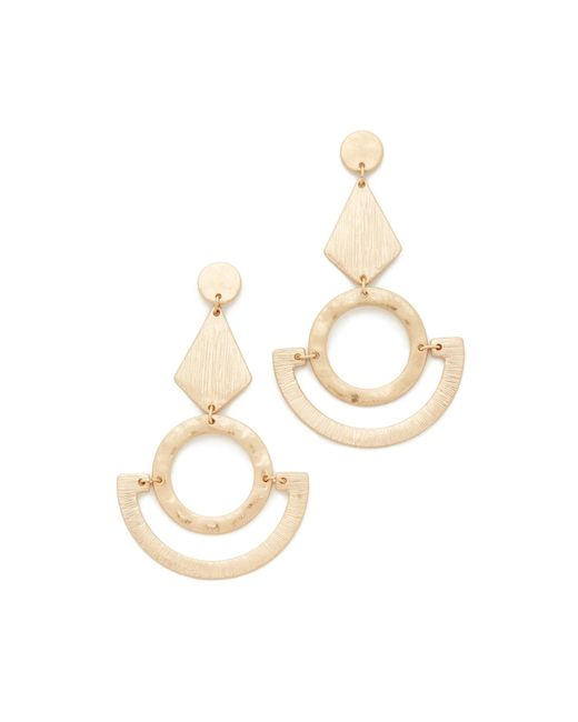 Shashi | Metallic Abigail Earrings | Lyst