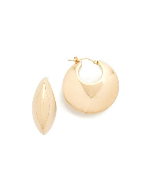 Soave Oro | Metallic Bombe Round Hoop Earrings | Lyst