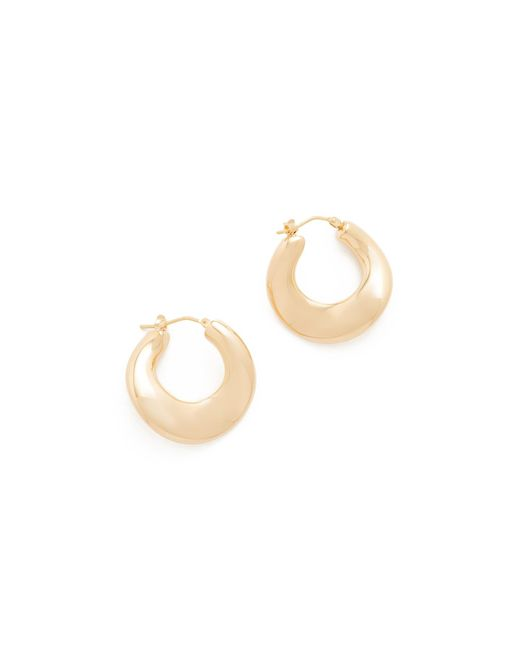 Soave Oro | Metallic Colette Hoop Earrings | Lyst