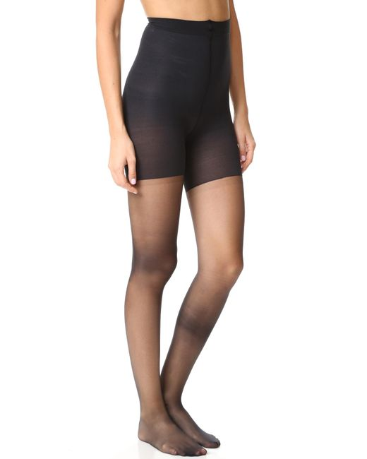 Spanx | Black Luxe Leg Sheer Tights | Lyst