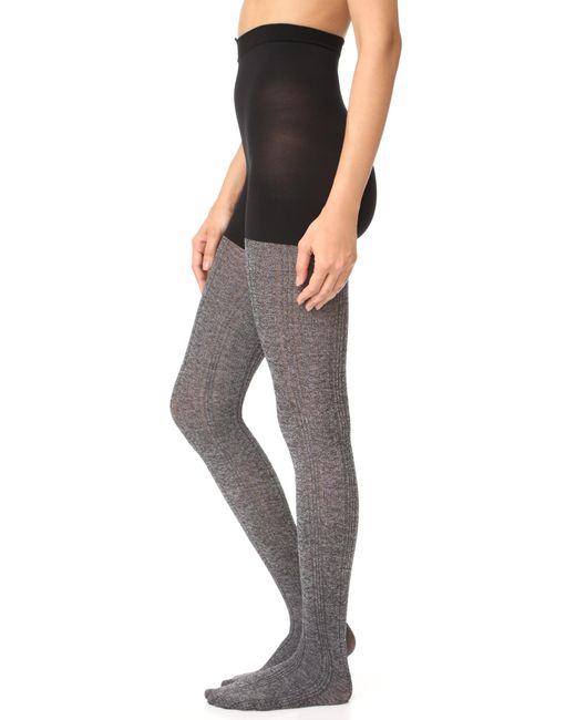 Spanx | Gray Cozy Cable Knit Tights | Lyst