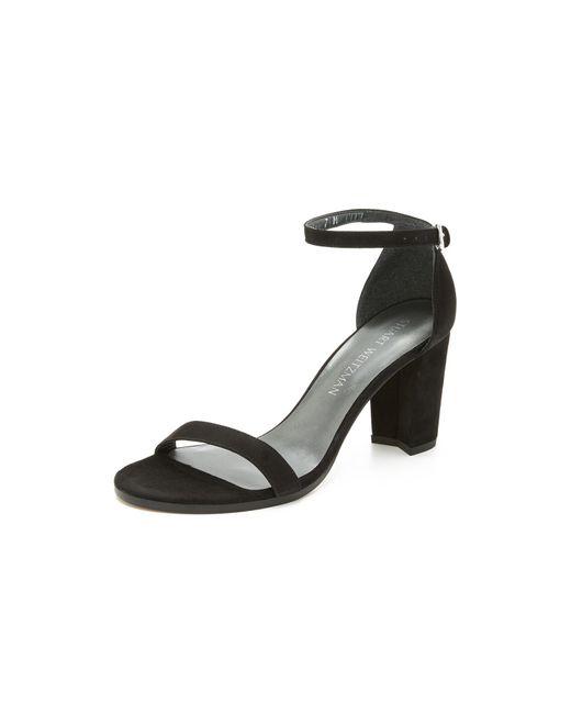 Stuart Weitzman | Black 'nearlynude' Sandals | Lyst