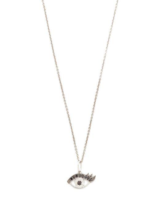 Sydney Evan   Metallic Small Eyelash Evil Eye Charm Necklace   Lyst