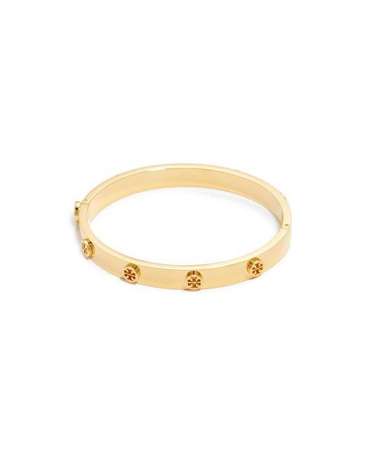 Tory Burch | Metallic Logo Stud Hinge Bracelet | Lyst