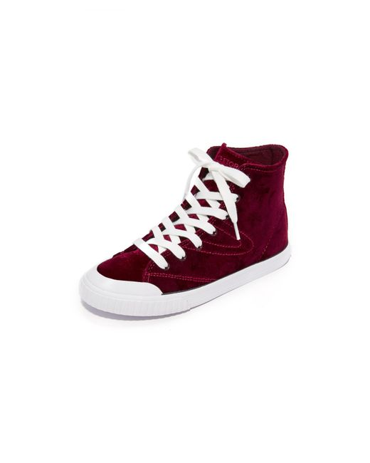 Tretorn   Multicolor Marley Velvet High Top Sneakers   Lyst