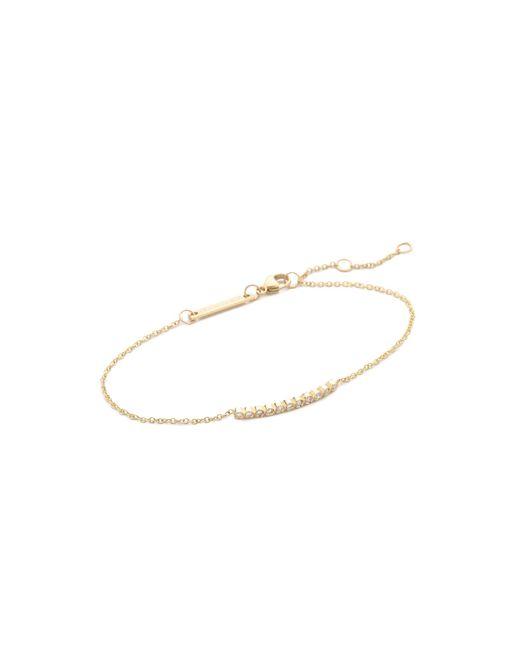 Zoe Chicco | Metallic Tiny Bezel Bar Bracelet | Lyst