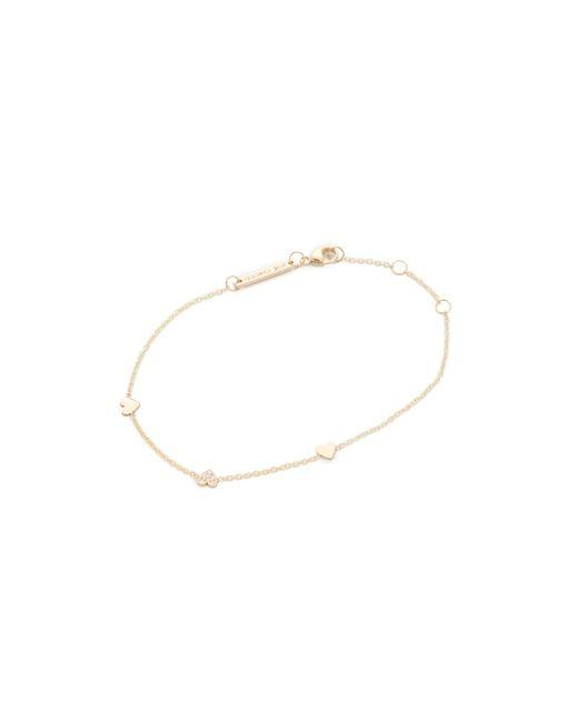 Zoe Chicco | Metallic 14k Gold Heart Chain Bracelet | Lyst