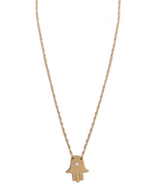 Jennifer Zeuner | Metallic Mini Hamsa Diamond Necklace | Lyst