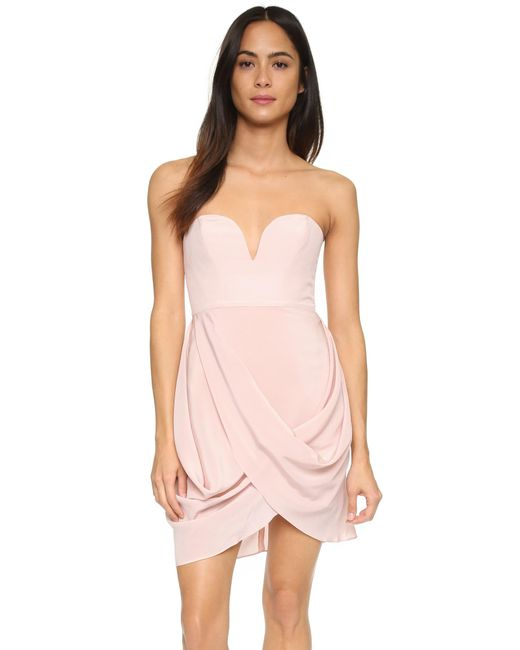 Zimmermann | Pink Draped Dress | Lyst
