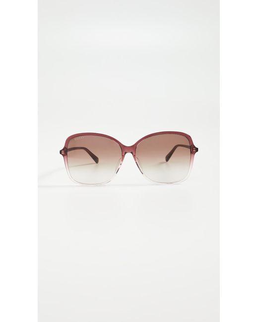 Gucci Brown Ultralight Acetate Square Sunglasses