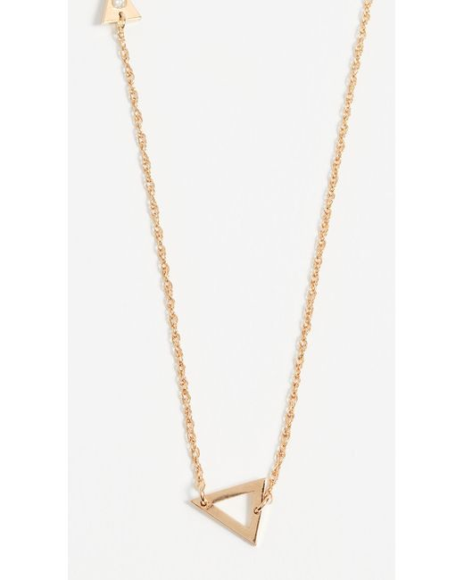 Jennifer Zeuner - Metallic Sasha Diamond Necklace - Lyst