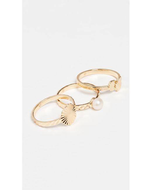 Gorjana Metallic Alice Ring Set