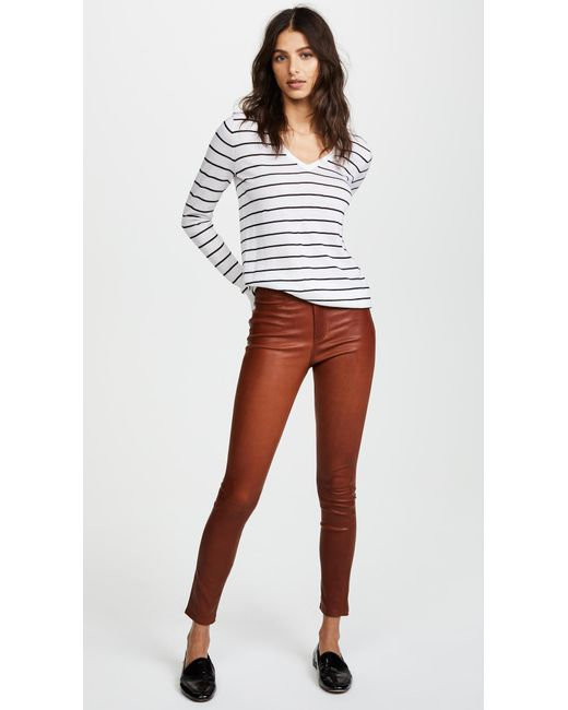 ... Veronica Beard - Multicolor Kate Skinny Leather Pants - Lyst ...