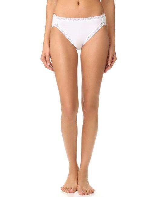 Natori - White Bliss Cotton French Cut Bikini Briefs - Lyst