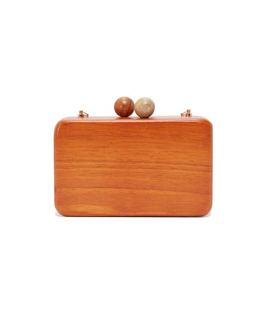 Inge Christopher | Multicolor Ornella Square Wood Clutch | Lyst