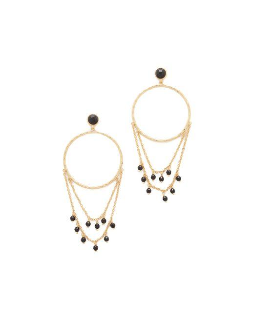 Gorjana | Metallic Sol Drape Hoop Earrings | Lyst