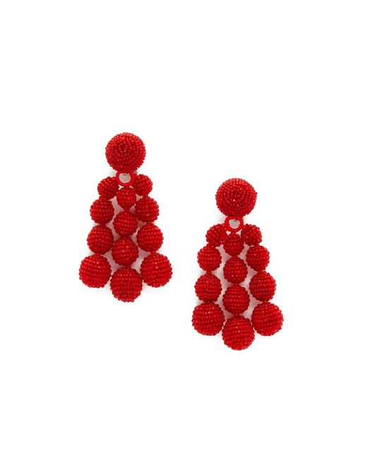 Sachin & Babi | Red Trinity Clip On Earrings | Lyst