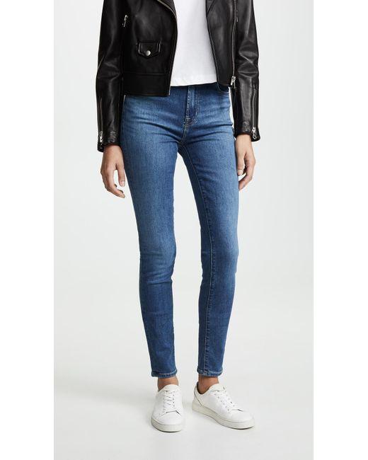 bff0fa798434 J Brand - Blue Carolina Super High Rise Skinny Jeans - Lyst ...