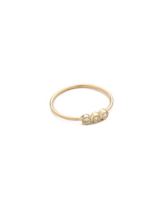 Zoe Chicco | Metallic 3 Bezel Set Ring | Lyst