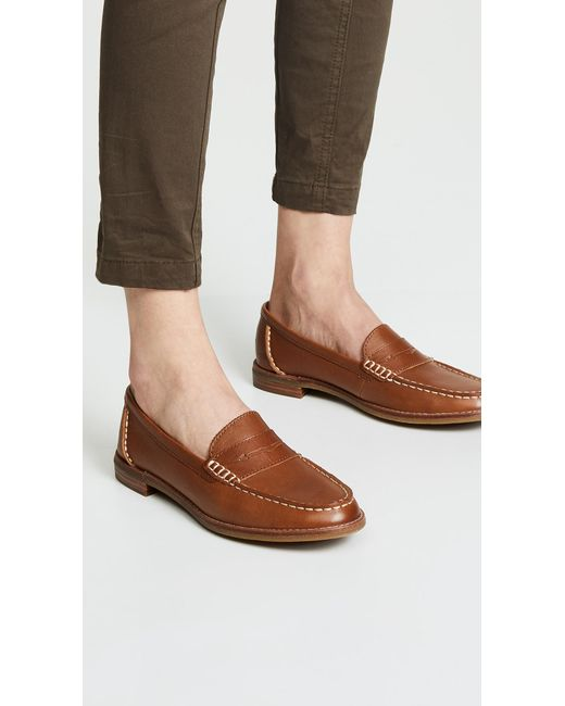 f9f65cde960 ... Sperry Top-Sider - Brown Seaport Penny Loafer - Lyst ...