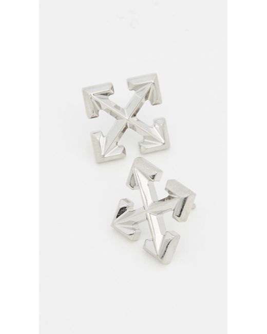 Off-White c/o Virgil Abloh Metallic Small Arrow Earrings