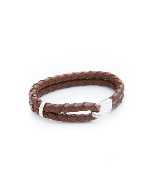 Miansai - Brown Beacon Leather Bracelet - Lyst