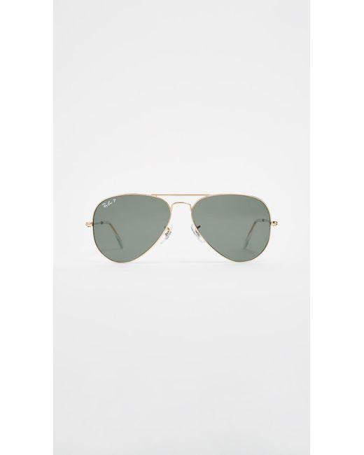 Ray-Ban - Metallic Rb3025 Original Aviator Polarized Sunglasses - Lyst